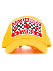 Dsquared2 Patch Front Baseball Cap Yellow Orange