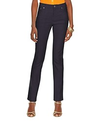 Lauren Ralph Lauren Curvy Straight Leg Jeans In Harbor 400