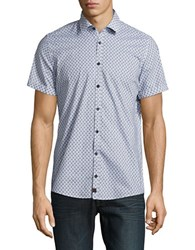 Strellson Sidney Short Sleeve Cotton Shirt Pastel Blue