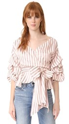 Alexis Armelle Top Red Stripe