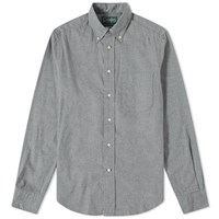 Gitman Brothers Vintage Button Down Classic Flannel Shirt Grey