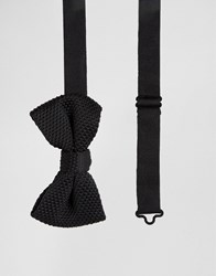 French Connection Knitted Bow Tie Black Navy