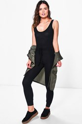 Boohoo Relaxed Fit Pocket Lounge Jumpsuit Black