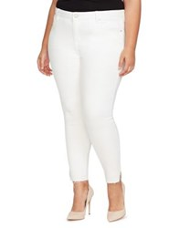 William Rast Plus Skinny Ankle Jeans White
