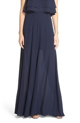 Women's Show Me Your Mumu 'Princess Ariel' A Line Chiffon Maxi Skirt Rich Navy Crisp