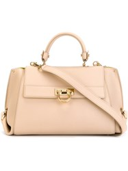 Salvatore Ferragamo 'Sofia' Tote Nude And Neutrals