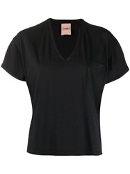 Nude Short Sleeve Fitted T Shirt Black