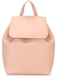 Mansur Gavriel Drawstring Backpack Pink Purple