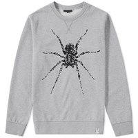 Lanvin Beaded Spider Sweat Grey
