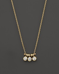 Zoe Chicco 14K Yellow Gold And Diamond Bezel Set 3 Necklace .15 Ct. T.W.