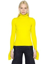 Jacquemus Wool Rib Knit Turtleneck Sweater