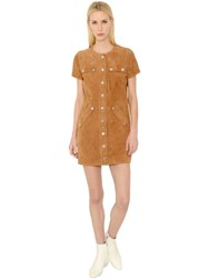 Courreges Suede Dress With Snap Buttons