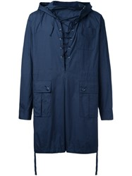Undercover Pullover Rain Jacket Blue