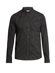 Ami Alexandre Mattiussi Micro Checked Cotton Shirt Black
