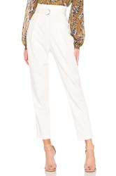 Bcbgmaxazria High Waisted Trouser White