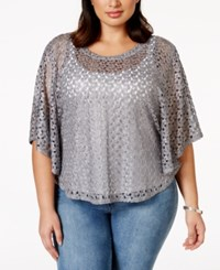 Styleandco. Style And Co. Plus Size Crocheted Poncho Only At Macy's