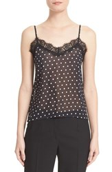 The Kooples Women's Lace Trim Polka Dot Camisole