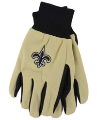 Forever Collectibles New Orleans Saints Palm Gloves Black