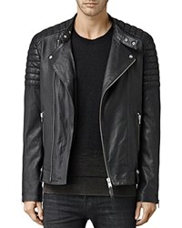 Allsaints Jasper Leather Slim Fit Biker Jacket Black