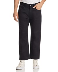 Junya Watanabe Patch Back Cropped Wide Leg Jeans Black X Black Grey