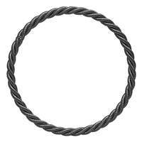 Eklexic Matte Black Rope Textured Bangle