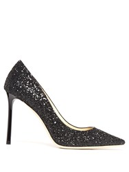 Jimmy Choo Romy 100Mm Glitter Pumps Black