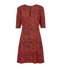 Claudie Pierlot Ravie Leopard Print Dress Female Red