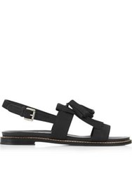 Jigsaw Yvette Tassel Footbed Sandals Black