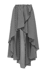 Caroline Constas Adelle Asymmetrical Wrap Skirt Plaid