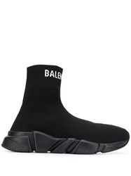 Balenciaga Speed Knitted Sneakers Black