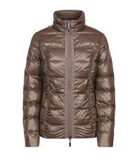Escada Sport Quilted Down Jacket Brown