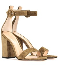 Gianvito Rossi Versilia Suede Sandals Green