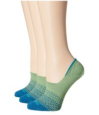 Feetures Hidden Ombre Socks 3 Pair Pack Lime No Show Socks Shoes Green