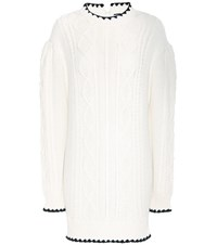 Mcq By Alexander Mcqueen Oversized Cotton Sweater White