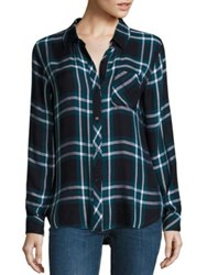 Rails Hunter Plaid Shirt Admiral Teal