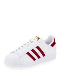 Adidas Men's Superstar Collegiate Leather Sneaker White Red
