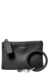 Urban Originals Mariposa Key Ring And Vegan Leather Card Pouch Black