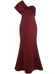 Badgley Mischka One Shoulder Twist Detail Gown 60