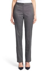 Women's Halogen 'Taylor Mini Grid' Stretch Straight Leg Suit Pants Black Grid Pattern