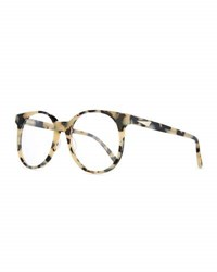Prism London Round Optical Frames White Tortoise White Pattern
