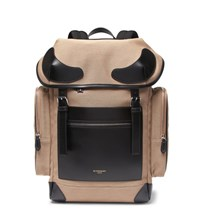 Givenchy Rider Leather Trimmed Canvas Backpack Tan