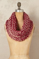 Anthropologie Maris Chunky Loop Scarf Red