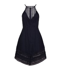 Keepsake All Night Lace Skater Dress Female Blue
