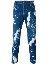 Dsquared2 Skinny Bleached Jeans Blue