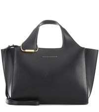 Victoria Beckham Small Newspaper Leather Tote Black