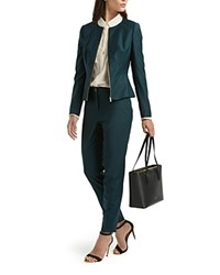Ted Baker Staciat Wool Blend Suit Trousers Dark Green