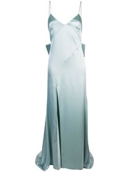 Zac Posen Eileen Metallic Gown Blue