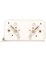 Coach Embellished Rocket Wallet Nude Neutrals