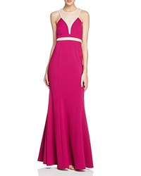 Decode 1.8 Illusion Detail Gown Brght Pink
