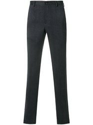 Giorgio Armani Long Fitted Trousers Grey